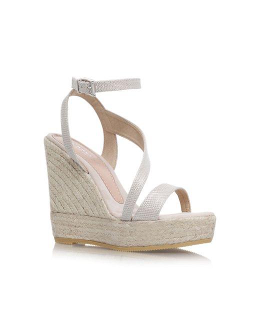 Carvela Kurt Geiger | Metallic Klassy High Wedge Heel Strappy Sandals | Lyst