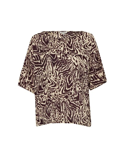 Great Plains | Brown Simba Print Slouchy Top | Lyst