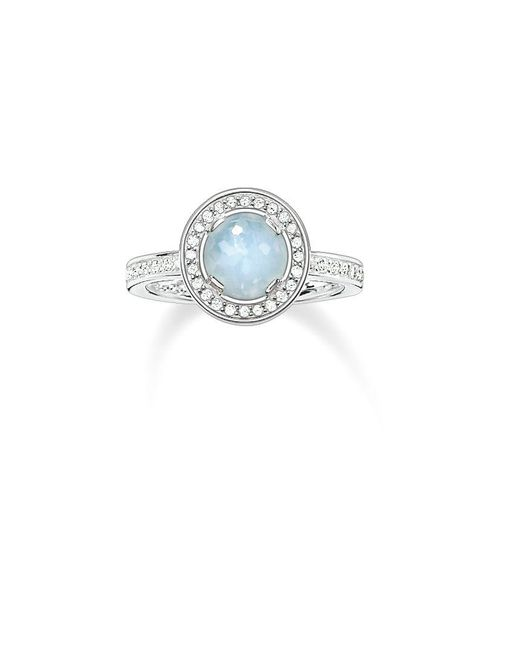 Thomas Sabo | Blue Light Of Luna Milky Aqua Eternity Ring | Lyst