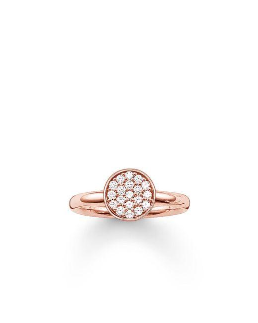 Thomas Sabo | Pink Sparkling Circles Pave Set Ring | Lyst
