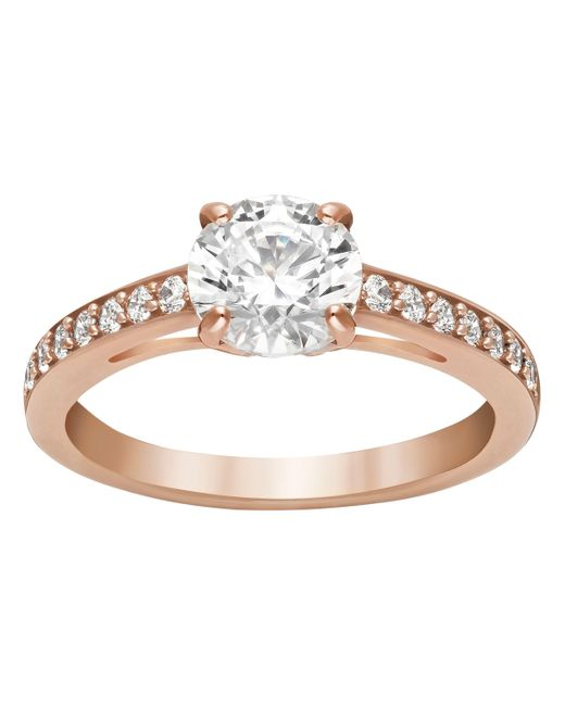 Swarovski | Pink Attract Ring | Lyst