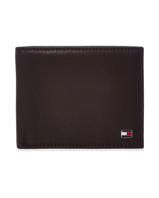 Tommy Hilfiger | Brown Eton Bifold Wallet for Men | Lyst