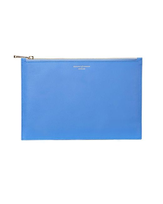 Aspinal | Blue Essential Pouch Large | Lyst