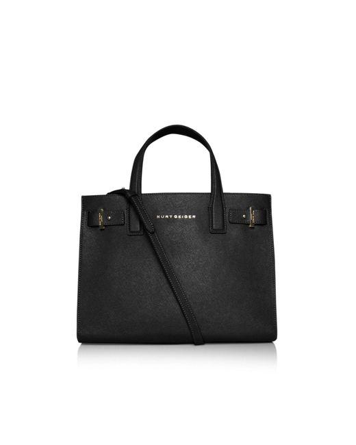 Kurt Geiger | Black Saffiano London Tote Bag | Lyst