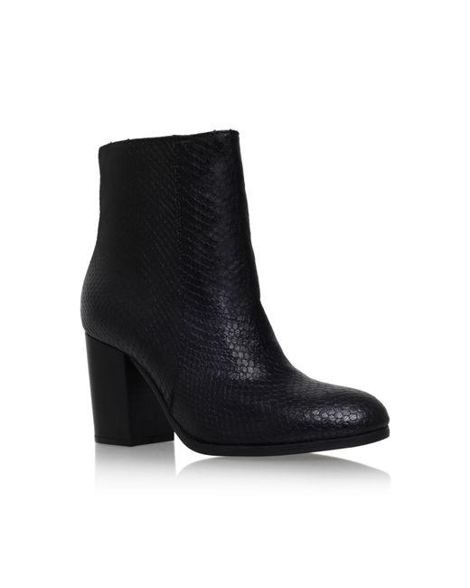 Carvela Kurt Geiger | Black Sherbert Snake-embossed Ankle Boots | Lyst