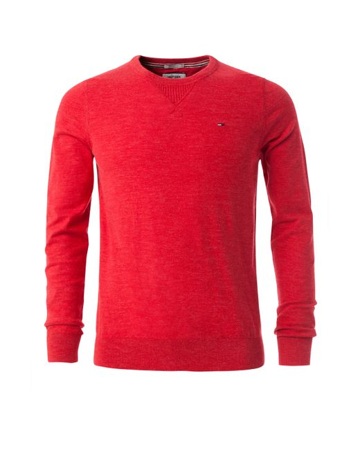 Tommy Hilfiger | Red Basic Cotton Blend Sweater for Men | Lyst