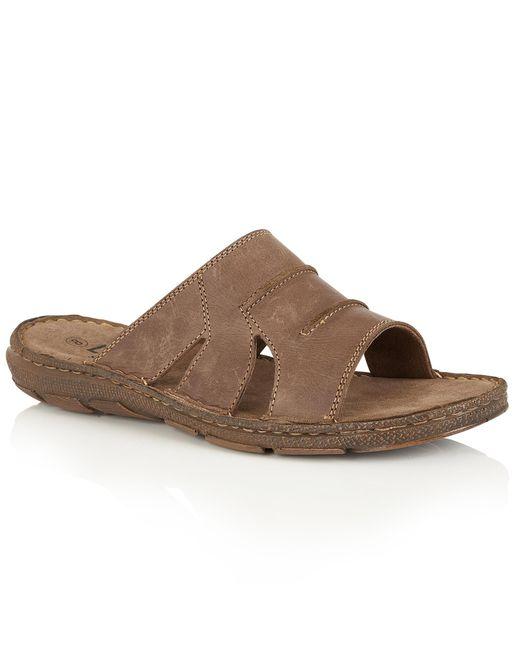 Lotus | Brown Campbell Slip On Sandals for Men | Lyst