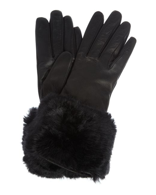 Ted Baker | Black Emree Faux Fur Cuff Glove | Lyst