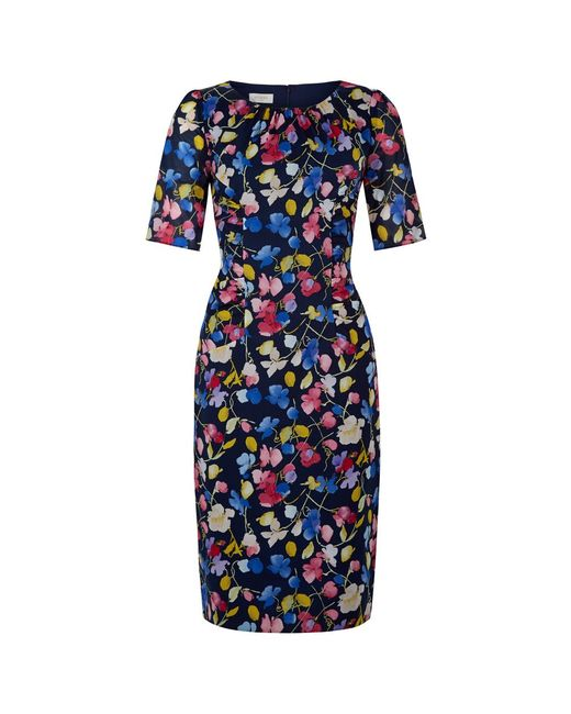 Hobbs | Blue Hobbs Bewes Floral Dress, Multi | Lyst