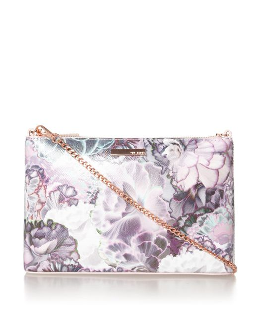 Ted Baker Jazzi Floral Crossbody Bag In Pink | Lyst