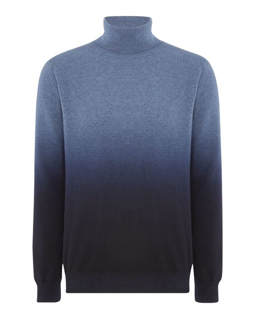 Richard James | Blue Ombre Roll Neck Knitwear for Men | Lyst
