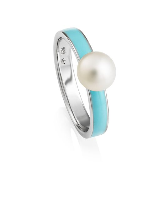 Jersey Pearl | Blue Freshwater Pearl Stacking Ring | Lyst