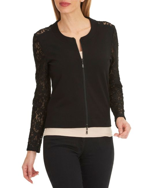 betty barclay lace sleeved jacket in black save 17 lyst. Black Bedroom Furniture Sets. Home Design Ideas