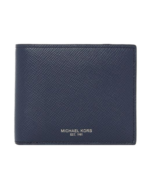 Michael Kors | Blue Bryant Slim Leather Billfold Wallet for Men | Lyst