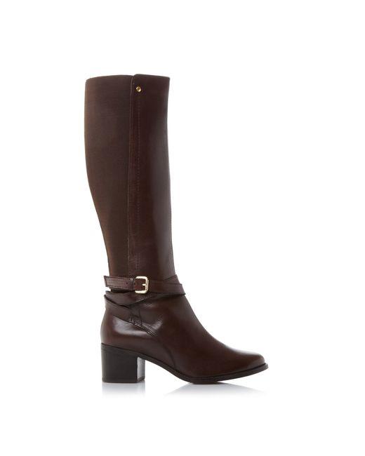 dune vivv stretch back knee high boots lyst