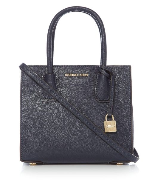 michael kors mercer crossbody bag in blue lyst. Black Bedroom Furniture Sets. Home Design Ideas
