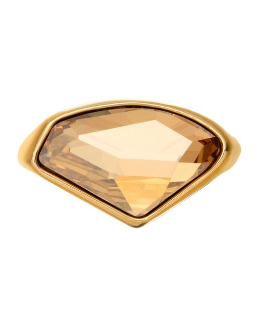 Aurora | Metallic 18ct Gold Plated Crystal Ring | Lyst