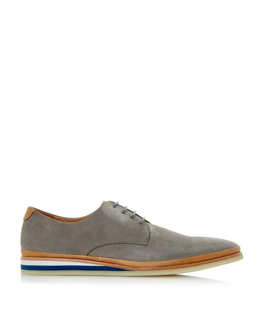 bertie boombox colour pop wedge shoes in gray for lyst