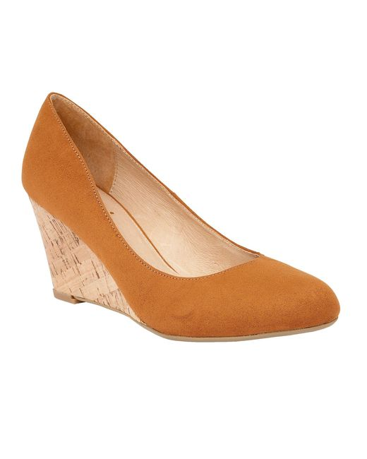 Lotus | Brown Jelico Shiny Cork Wedges | Lyst