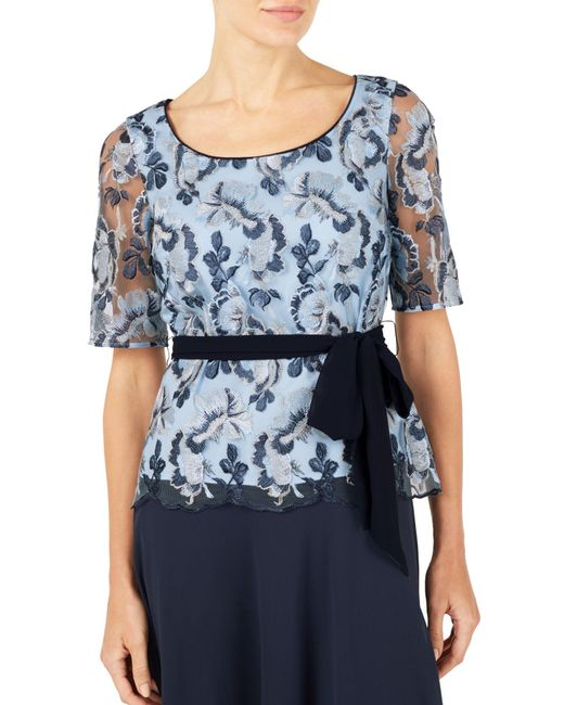 Jacques vert embroidered lace top in blue lyst