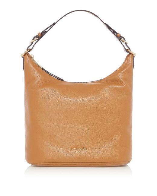 Michael Kors | Brown Lupita Large Hobo Bag | Lyst
