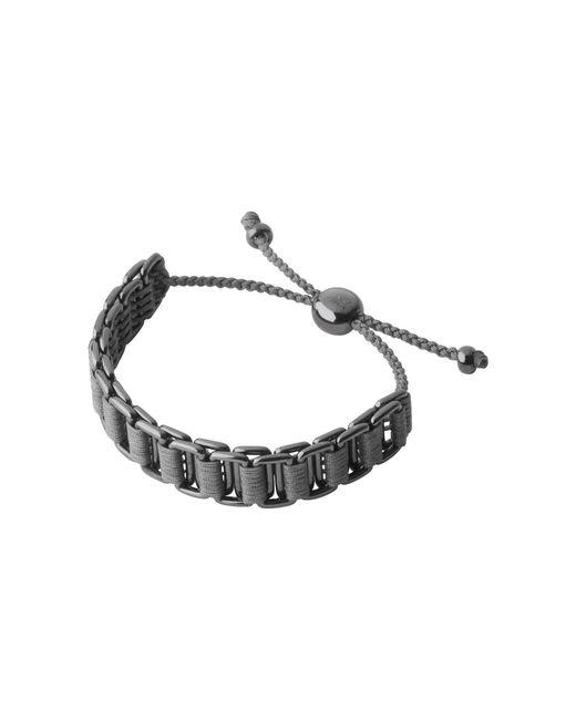 Links of London - Metallic Friendship Mens Grey Cord Bracelet for Men - Lyst