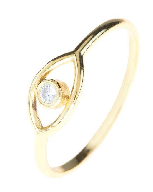 Latelita London - Metallic Mystic Eye Ring White Topaz Gold - Lyst