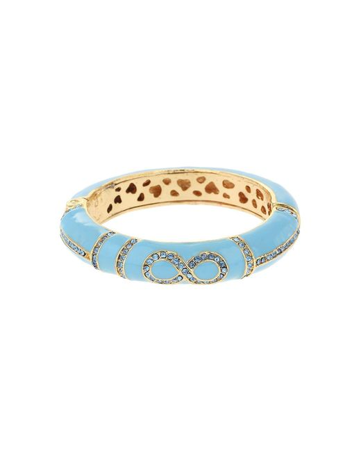 Mikey | Blue Enamel Eight Design Snap Bracelet | Lyst