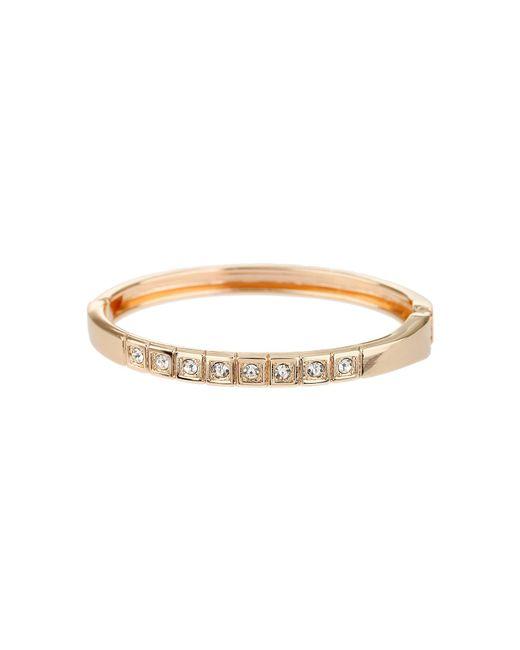 Mikey - Metallic Square Block Crystal Stud Cuff Bracelet - Lyst