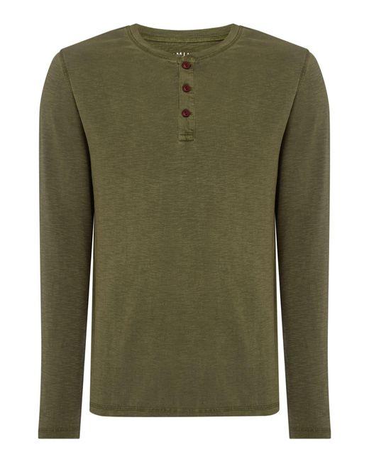 Criminal | Green Henley Tshirt for Men | Lyst