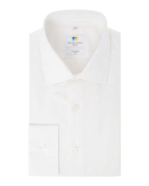 Richard James   White Hexagon Print Slim Fit Shirt for Men   Lyst