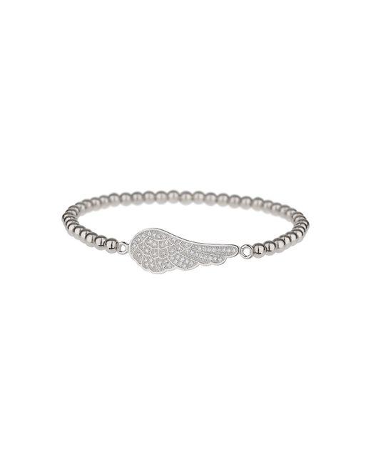 Mikey - Metallic Fine Cubic Wing Elastic Bracelet - Lyst