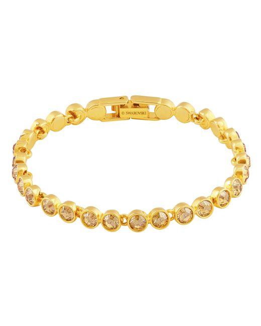 Swarovski   Metallic Tennis Bracelet   Lyst