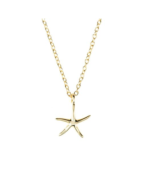 Latelita London | Metallic Petite Starfish Necklace Gold | Lyst