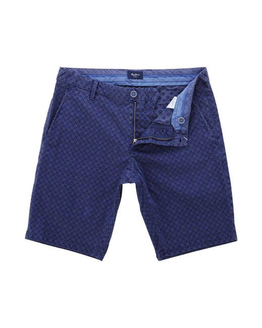 Pepe Jeans - Blue Men's James Crossround Short 14 Length Short for Men - Lyst