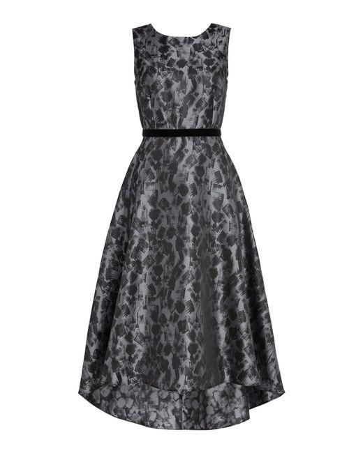 Ariella - Gray Midi High Low Prom Dress - Lyst