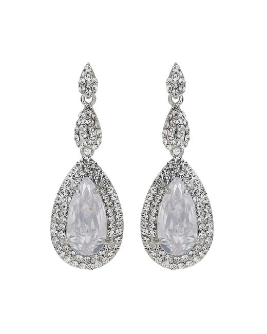 Mikey | White Ecilpse Cubic Suuround Drop Earring | Lyst