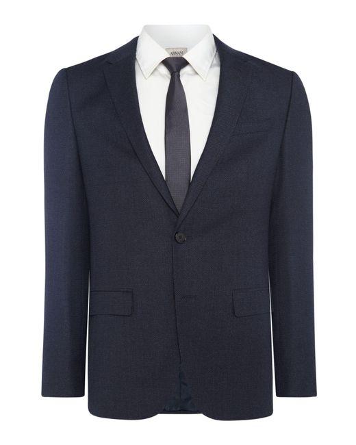 HUGO   Blue Men's Harvey-getlin Brushed Micro Cross Slim Fit Suit for Men   Lyst