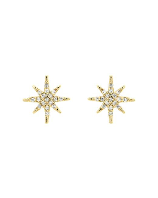 Melissa Odabash | Metallic Gold Crystal Star Earrings | Lyst