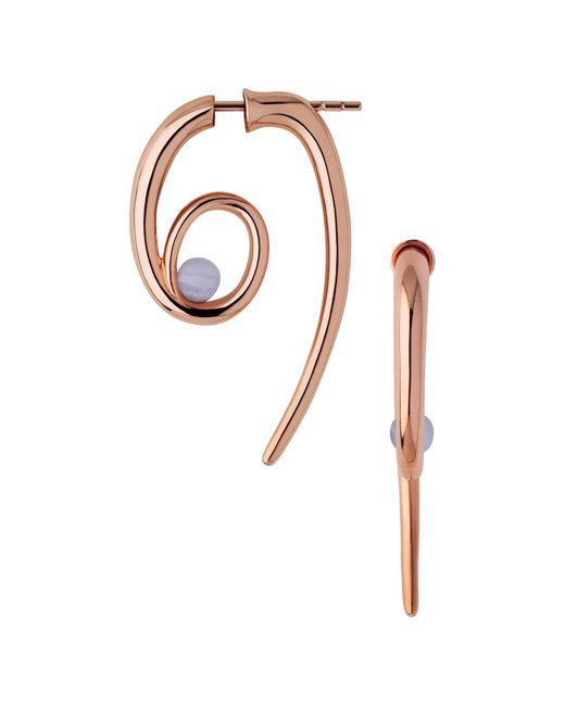 Links of London   Metallic Serpentine Rose & Agate Spiral Earrings   Lyst