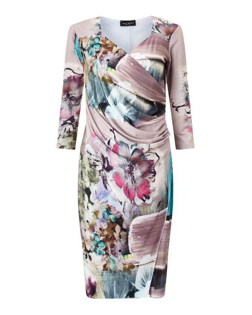 James Lakeland   Purple Side Pleat Dress   Lyst