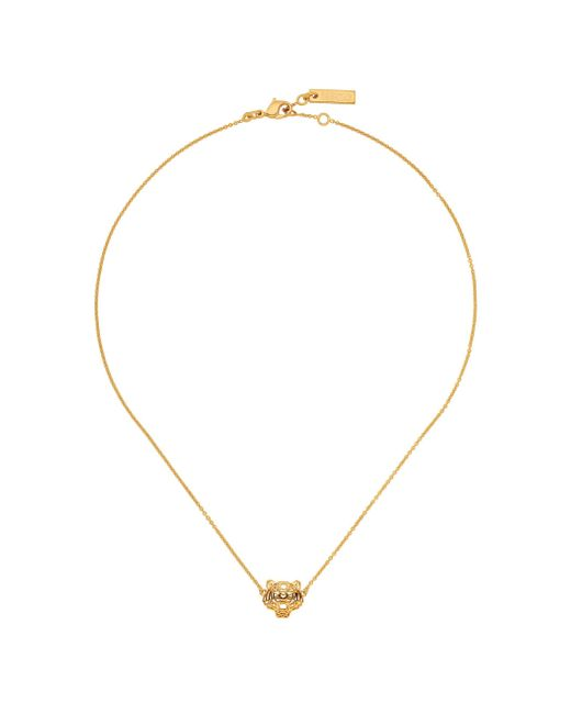 KENZO | Metallic 216350159043 Gold & Diamond Necklace | Lyst