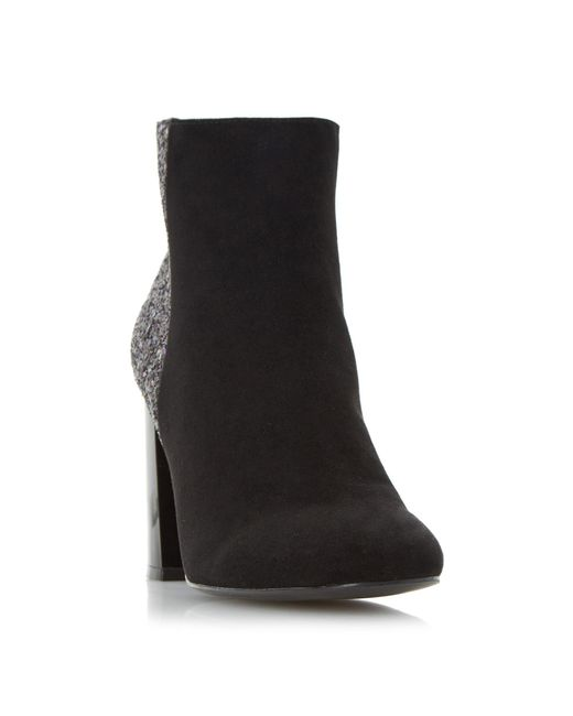 Dune | Black Odessa Faux-Suede Ankle Boots  | Lyst