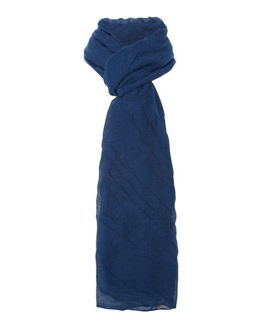 Viz A Viz | Blue Pleated Scarf | Lyst