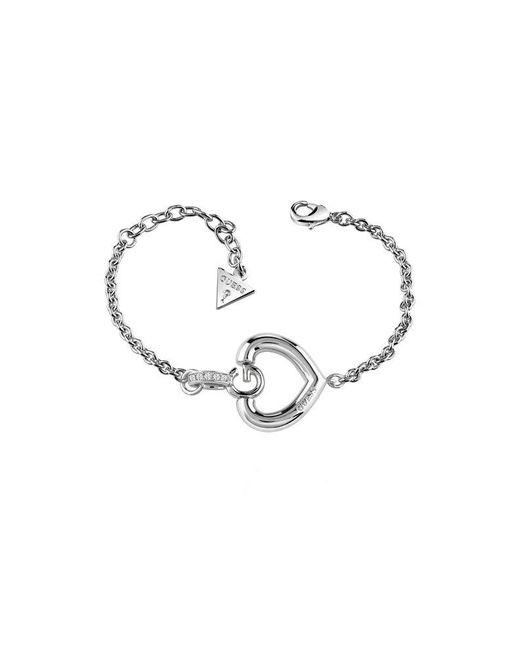 Guess   Metallic Gisèle Ubb83006-l G Heart Bracelet   Lyst