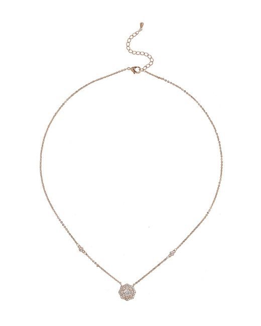 Mikey - White Daisy Design Cubic Centre Necklace - Lyst