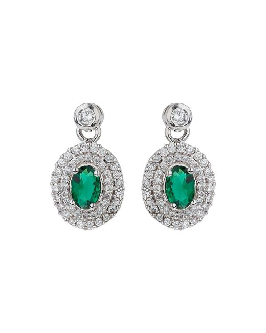 Mikey | Green Filigree Eclipse Cubic Centredropearring | Lyst