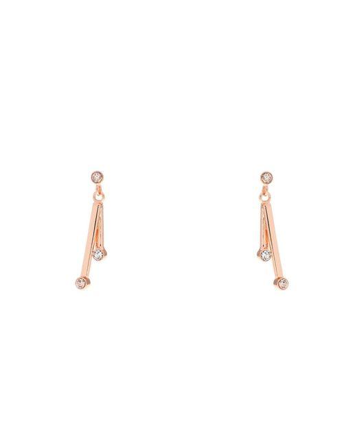 Karen Millen - Metallic Tiny Dot Drop Earrings - Lyst