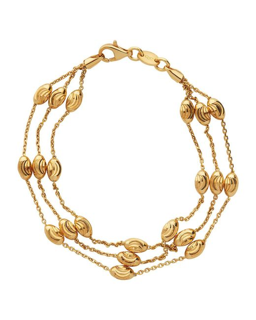 Links of London - Metallic Essentials Gold Beaded 3 Row Bracelet - Lyst