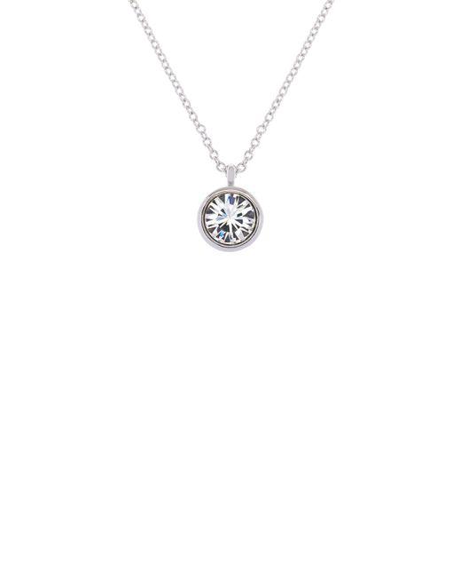 Karen Millen - Metallic Silver & Crystal Dot Necklace - Lyst